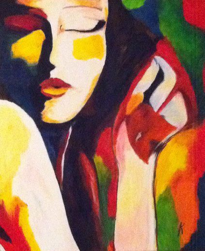 portrait. Painting. Abstract. #Art