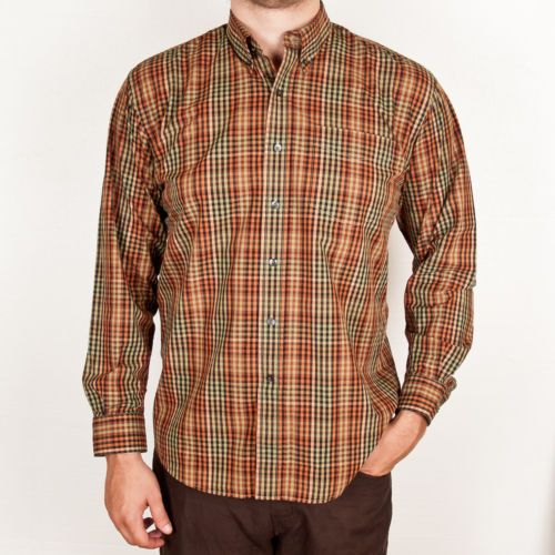 Cutter buck plaid shirt mens large long sleeve casual for Mens casual plaid shirts