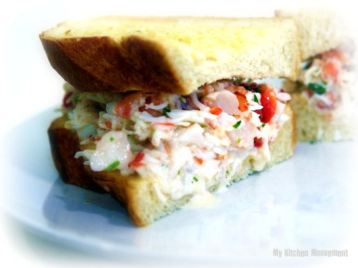 King Crab & Shrimp Salad Sand w/ Meyer Lemon and tarragon dressing (i ...