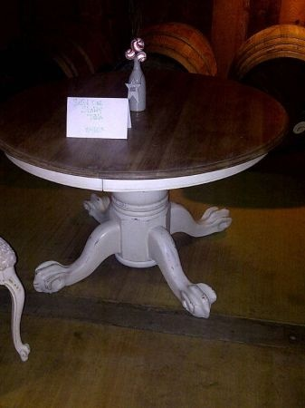 Round Dining Table Shabby Chic Oak Crafting Pinterest
