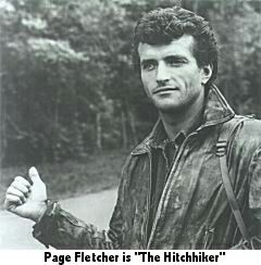 Page fletcher was the hitchhiker for 82 of the 85 episodes and was