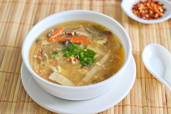 Veg Hot and Sour Soup | Mmm | Pinterest