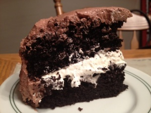Cake With Malted Chocolate Ganache And Toasted Marshmallow Frosting ...