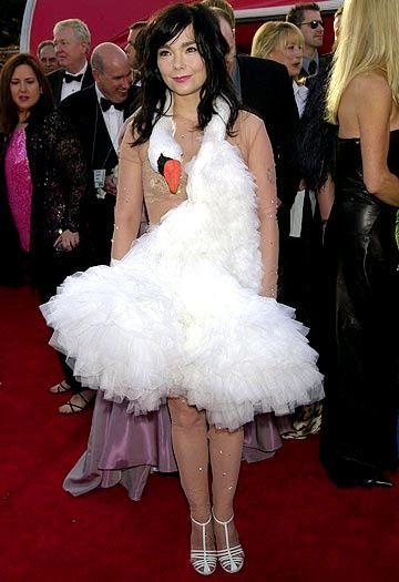 Image result for bjork swan dress