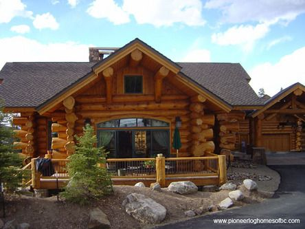 Small one story log home ideas pinterest for Single story log homes