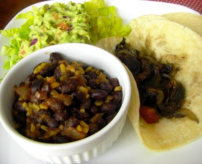 An Opera Singer in the Kitchen: Portabella Mushroom Fajitas