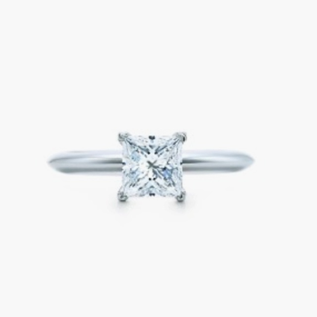 Tiffany princess cut engagement ring