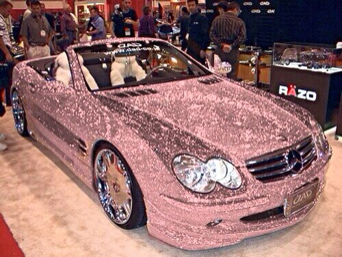 Pink Glitter Mercedes Bling New Car Yay