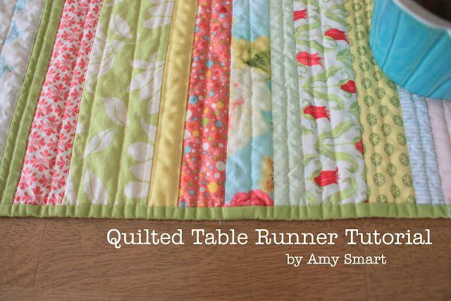 quilt as you go table runner Table Runners Pinterest