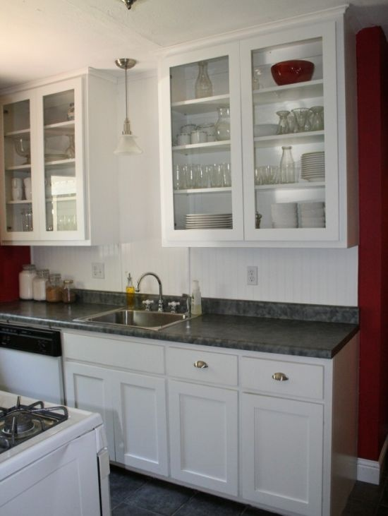 Cabinets beach cottage kitchen pinterest for Beach cottage kitchen cabinets