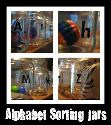 Reuse and Sort: oodles of ideas for getting the alphabet into the midst of children!