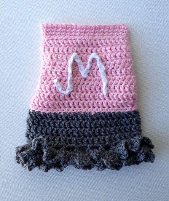 Handmade Monogrammed Initial Crochet Dog by JennyStakerInspired, $20 ...