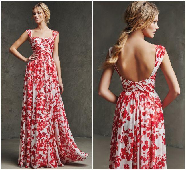modelos de vestidos maternos largos