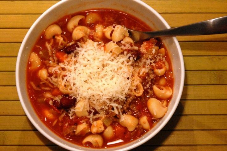 pasta e fagioli (Italian bean and pasta) soup. molto bene!!! | Yummos ...