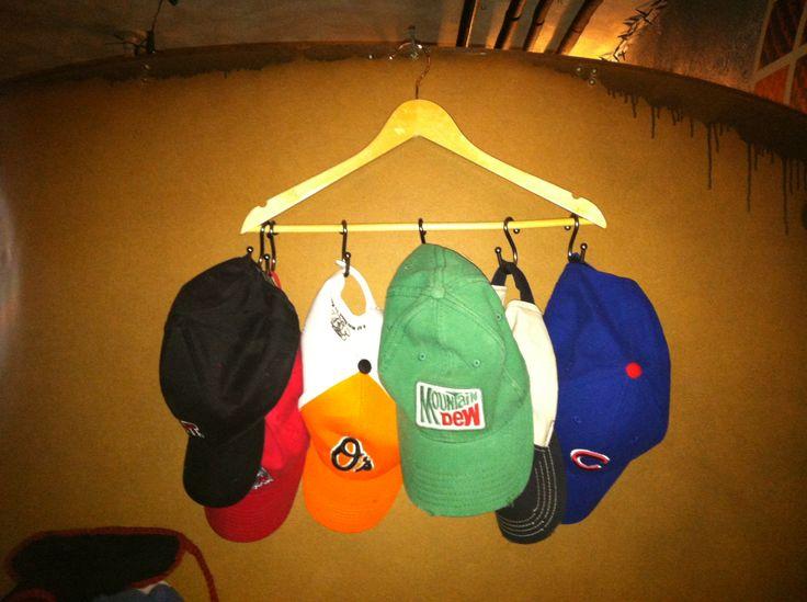 Diy hat rack organizing cleaning pinterest for Diy hat organizer