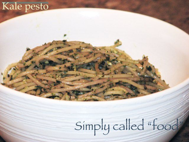 Kale Pesto (change recipe to add basil) Would be good on fresh ...
