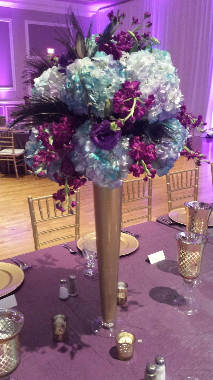 Purple and teal centerpieces wedding centerpieces - Purple and teal centerpieces ...