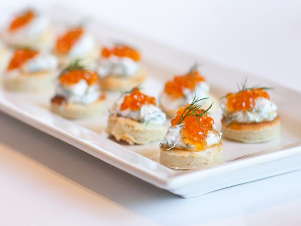 Caviar and Salmon Blini | Appetizers | Pinterest