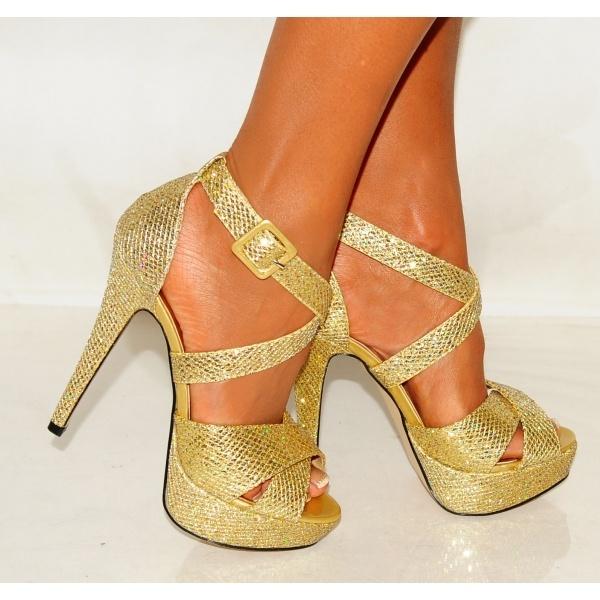 golden high heels shoes sandals heels boots wedges