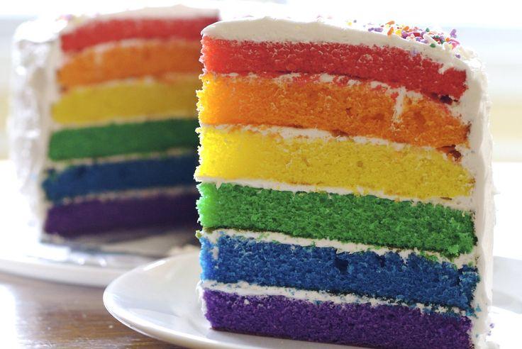 Lovin this Rainbow Birthday Cake