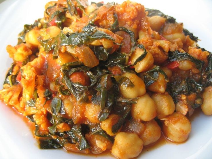 Chickpea, Cauliflower and Kale Curry | entrees | Pinterest