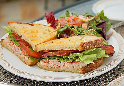 lobster club sandwich | A Seaside Escape | Pinterest