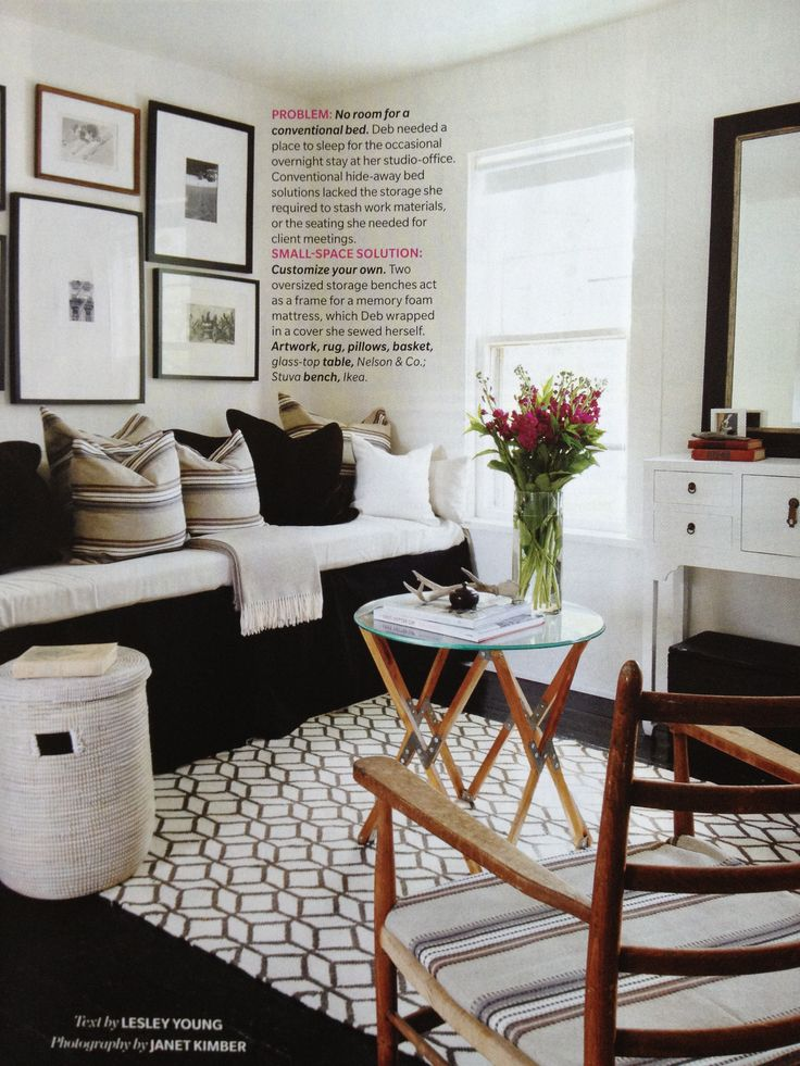 Black and white. Guest Room inspy as seen in @Allison j.d.m D.McT House! & Home September 2012 - Living Large in SM Spaces