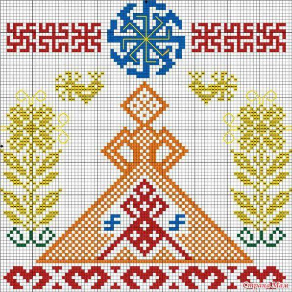 Схемы для вышивки славянских оберегов 53