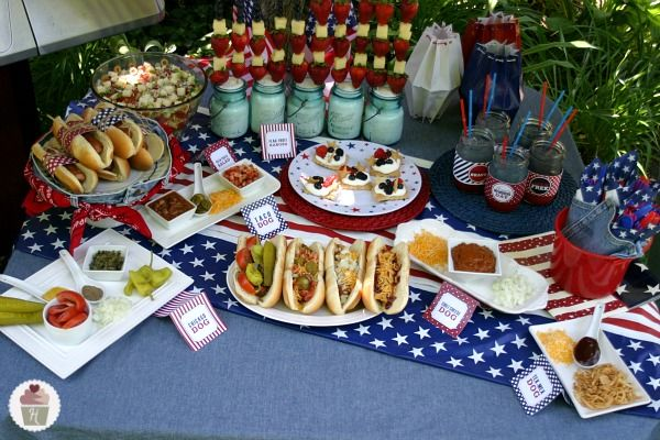 memorial day cookout decorations