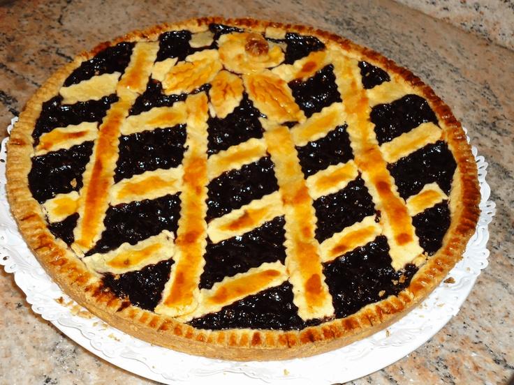 Italian crostata with blueberries jam | Italian Desserts | Pinterest