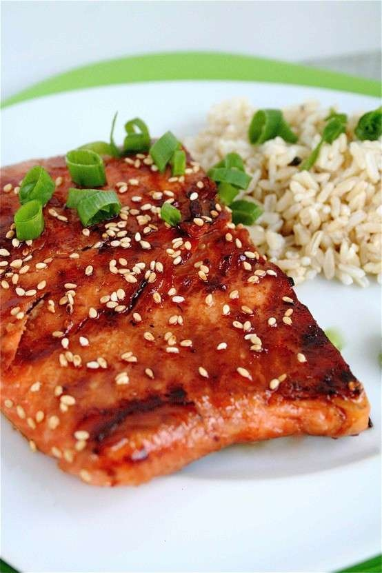 sweet soy glazed salmon | yum | Pinterest