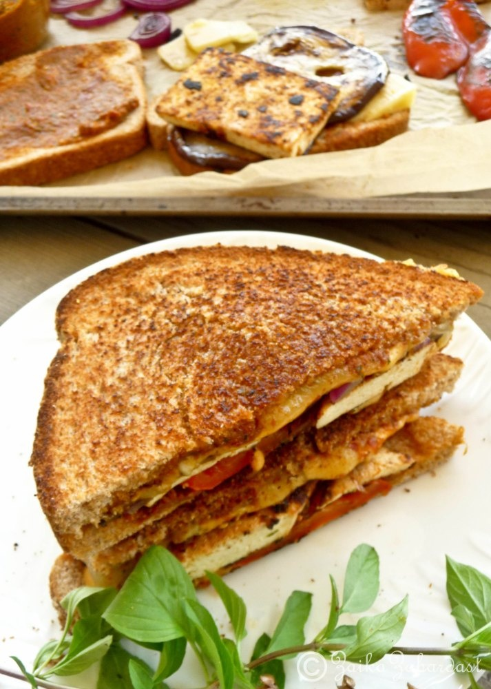 Grilled tofu and sun dried tomato pesto Sandwich!- sans cheese or add ...