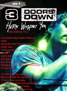 3 doors down here without you video: