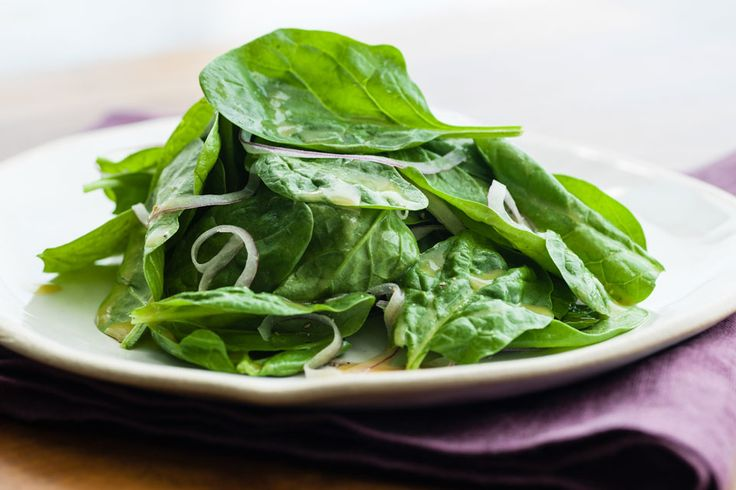 Baby Spinach Salad with Red Onion and Honey Mustard Dressing