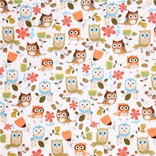 Cute Colorful Owl Wallpaper