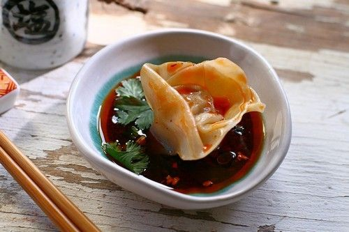 Sichuan Red Oil Wontons Recipe — Dishmaps