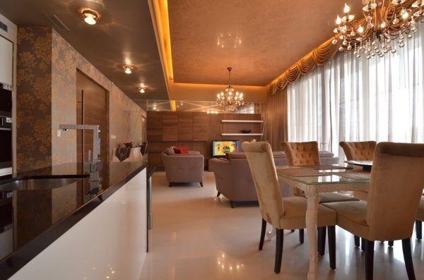 brown luxury dining room decor