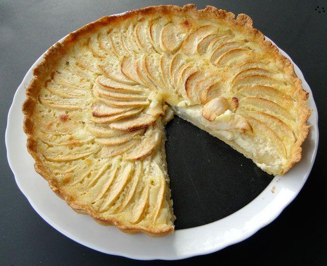 Alsatian Apple Tart | Food - Desserts | Pinterest