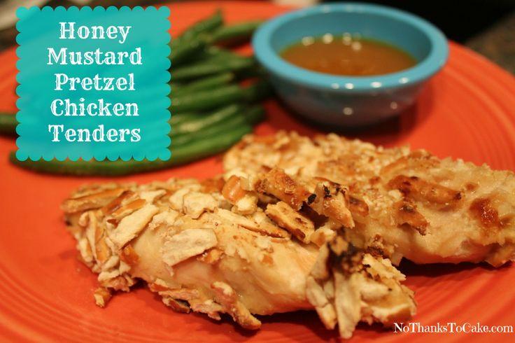 Honey Mustard Pretzel Chicken Tenders | No Thanks to Cake