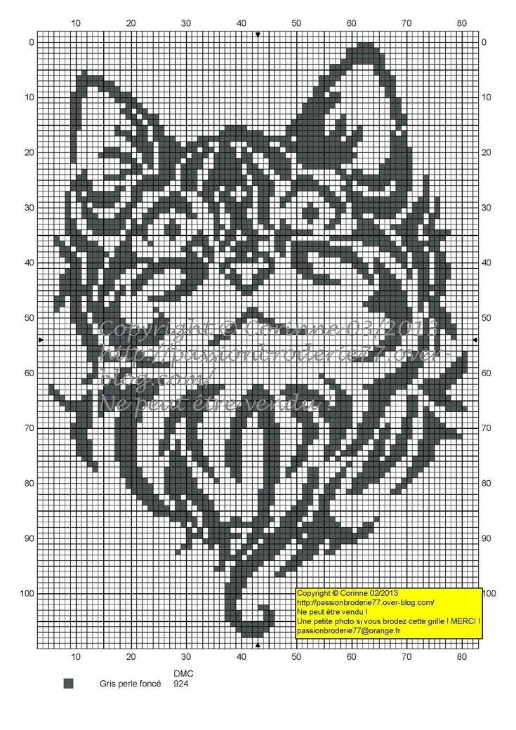 Вышивка крестом схемы монохром 78