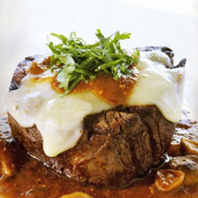 Beef Tenderloin Filets with Shiitakes in Morita Chile and Tomatillo ...