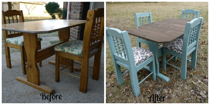 Refinished Tables Pinterest Crafts