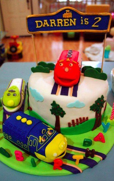Chuggington cake featuring all three trainees.  Made by a #Chuggington FB fan!