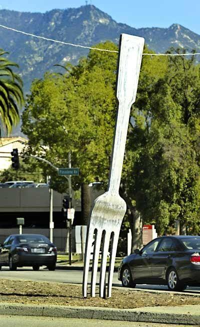 fork in the road, Pasadena, CA.