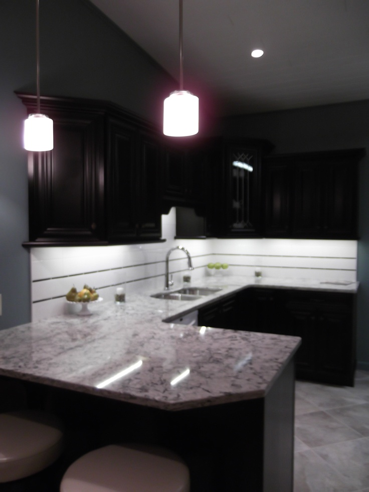 Chocolate brown kitchen  Design Studio Bridgeville Grand Opening