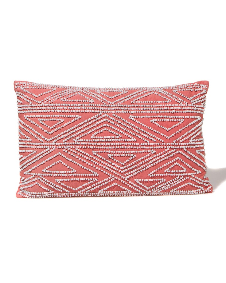 DVF beaded decorative pillow $49.90 coral