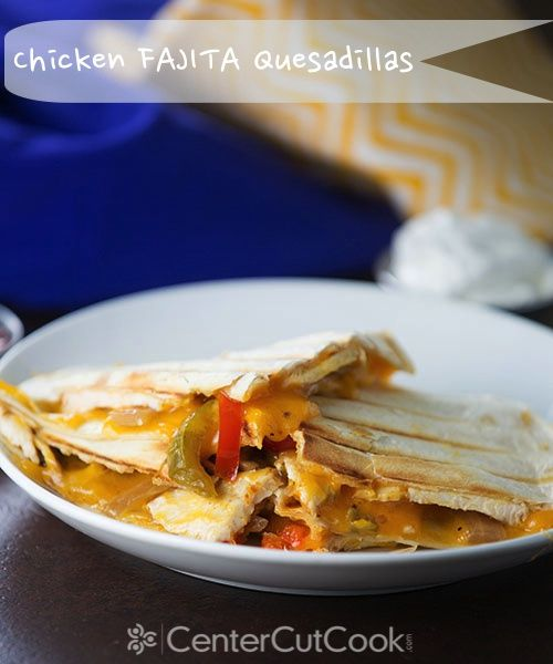 ... vegetables and marinated chicken stuffed between two quesadillas with