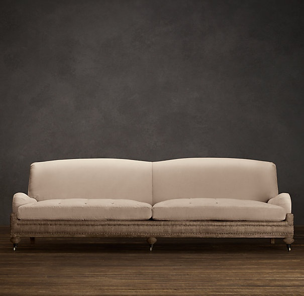 Deconstructed English Roll Arm Sofa FF&E