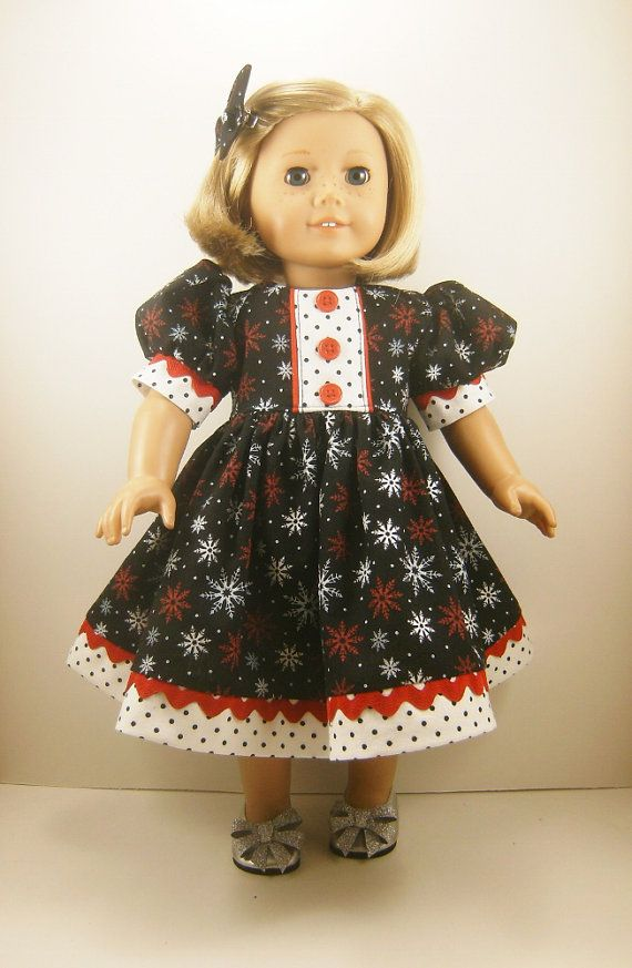 Christmas snowflake dress made for 18 inch by dressurdolly2 24 00
