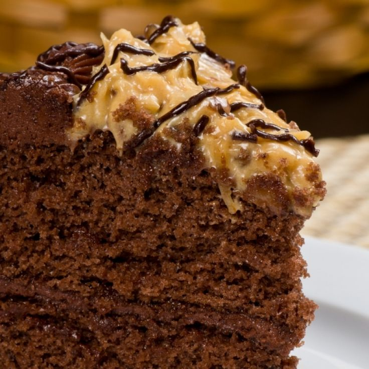 German Chocolate Cake Desserts Pinterest